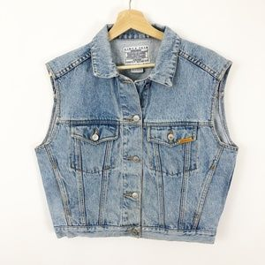 VTG 90's Jordache Jean Denim Button Up Vest, M